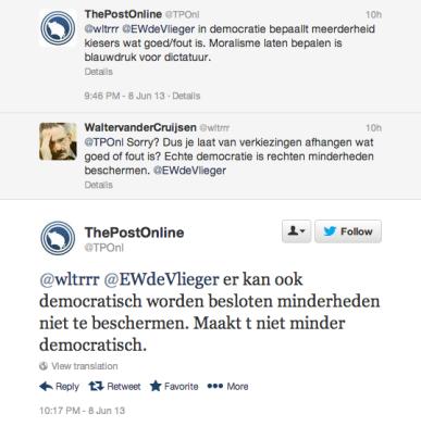 Twitter en ideeën over democratie anno 2013